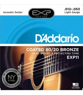 D'ADDARIO EXP11 COATED 80/20 BRONZE .012-.053