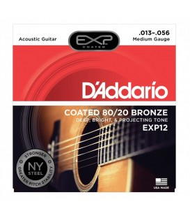 D'ADDARIO EXP12 COATED 80/20 BRONZE MEDIUM .013-.056